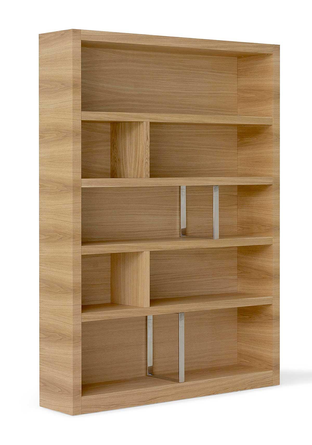 Mesas de salón y sillas para comedor, estanterías de madera modernas