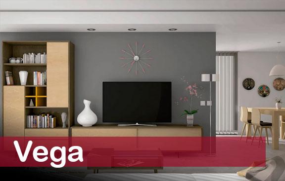Muebles modulares de estilo funcional