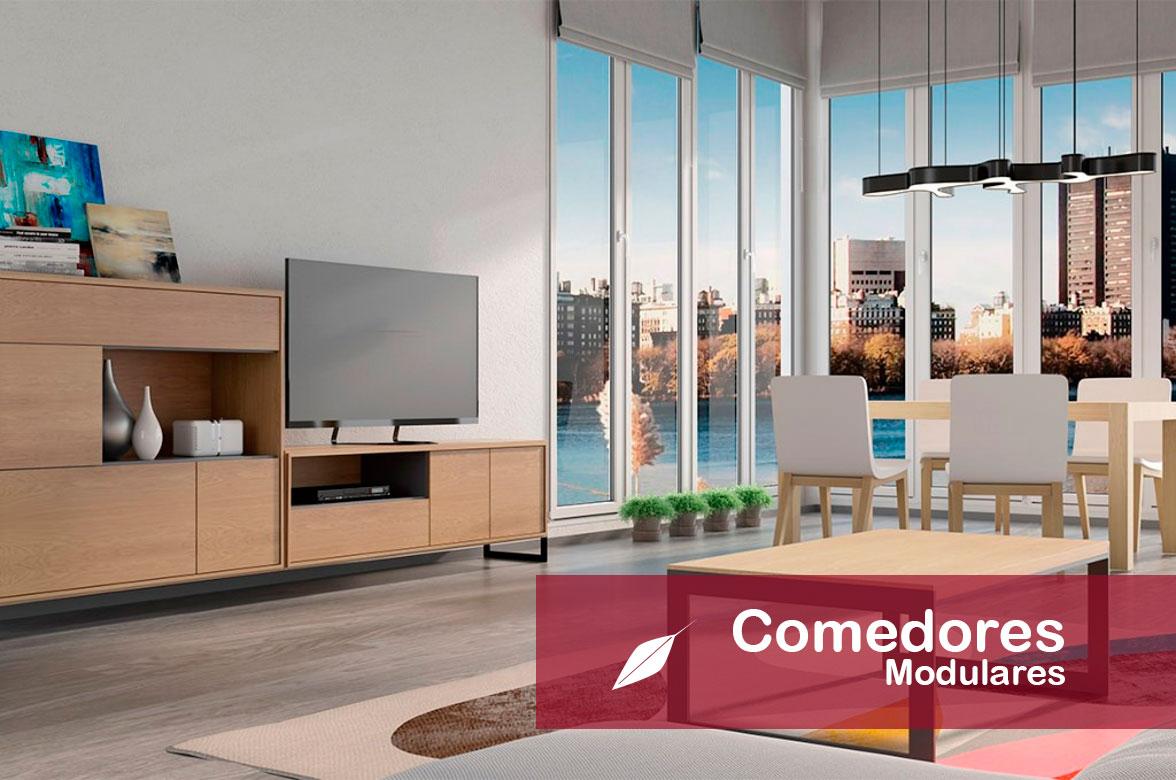 Diseño y fabricación de muebles de salón comedor modulares